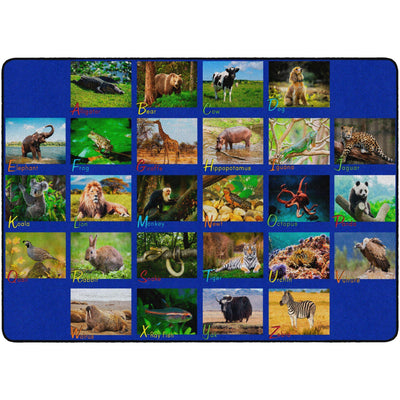 Alphabet Animals Rugs-Classroom Rugs & Carpets-