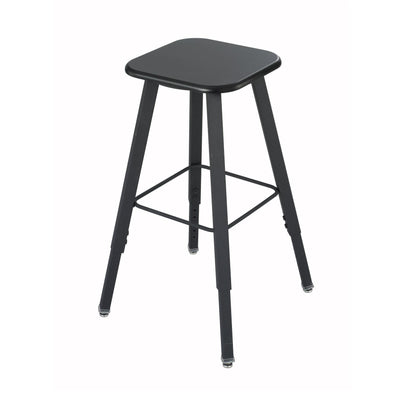 AlphaBetter® Adjustable-Height Student Stool-Chairs-Black-