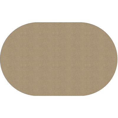 "Americolors Solids Rugs-Classroom Rugs & Carpets-Almond-7'6"" x 12' Oval-"