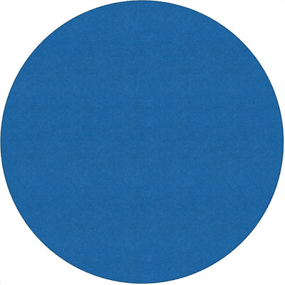 Americolors Solids Rugs-Classroom Rugs & Carpets-Blue Bird-6' x 6' Circle-