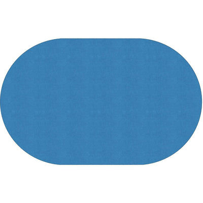 "Americolors Solids Rugs-Classroom Rugs & Carpets-Blue Bird-7'6"" x 12' Oval-"