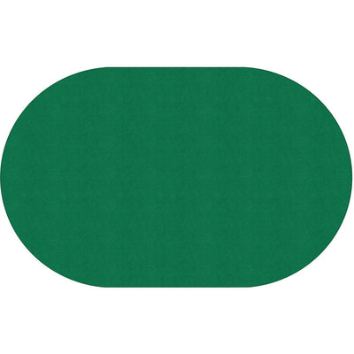 "Americolors Solids Rugs-Classroom Rugs & Carpets-Clover Green-7'6"" x 12' Oval-"