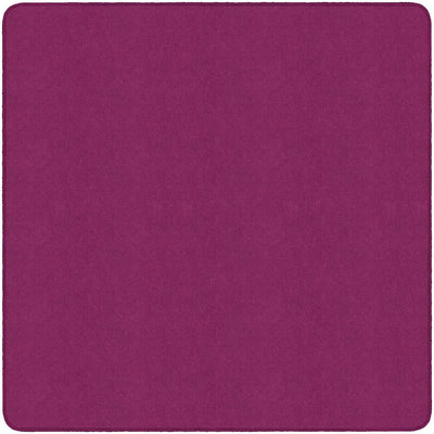 Americolors Solids Rugs-Classroom Rugs & Carpets-Cranberry-6' x 6' Square-