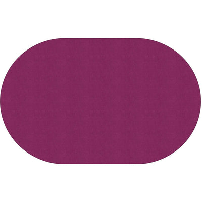 "Americolors Solids Rugs-Classroom Rugs & Carpets-Cranberry-7'6"" x 12' Oval-"