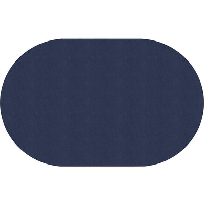 "Americolors Solids Rugs-Classroom Rugs & Carpets-Navy-7'6"" x 12' Oval-"