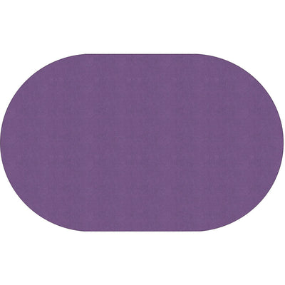 "Americolors Solids Rugs-Classroom Rugs & Carpets-Pretty Purple-7'6"" x 12' Oval-"