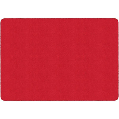 Americolors Solids Rugs-Classroom Rugs & Carpets-Rowdy Red-4' x 6' Rectangle-