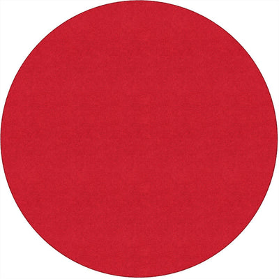 Americolors Solids Rugs-Classroom Rugs & Carpets-Rowdy Red-6' x 6' Circle-