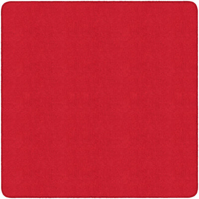 Americolors Solids Rugs-Classroom Rugs & Carpets-Rowdy Red-6' x 6' Square-