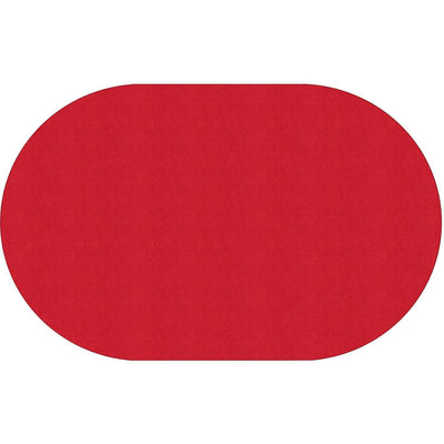 "Americolors Solids Rugs-Classroom Rugs & Carpets-Rowdy Red-7'6"" x 12' Oval-"