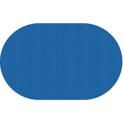 "Americolors Solids Rugs-Classroom Rugs & Carpets-Royal Blue-7'6"" x 12' Oval-"