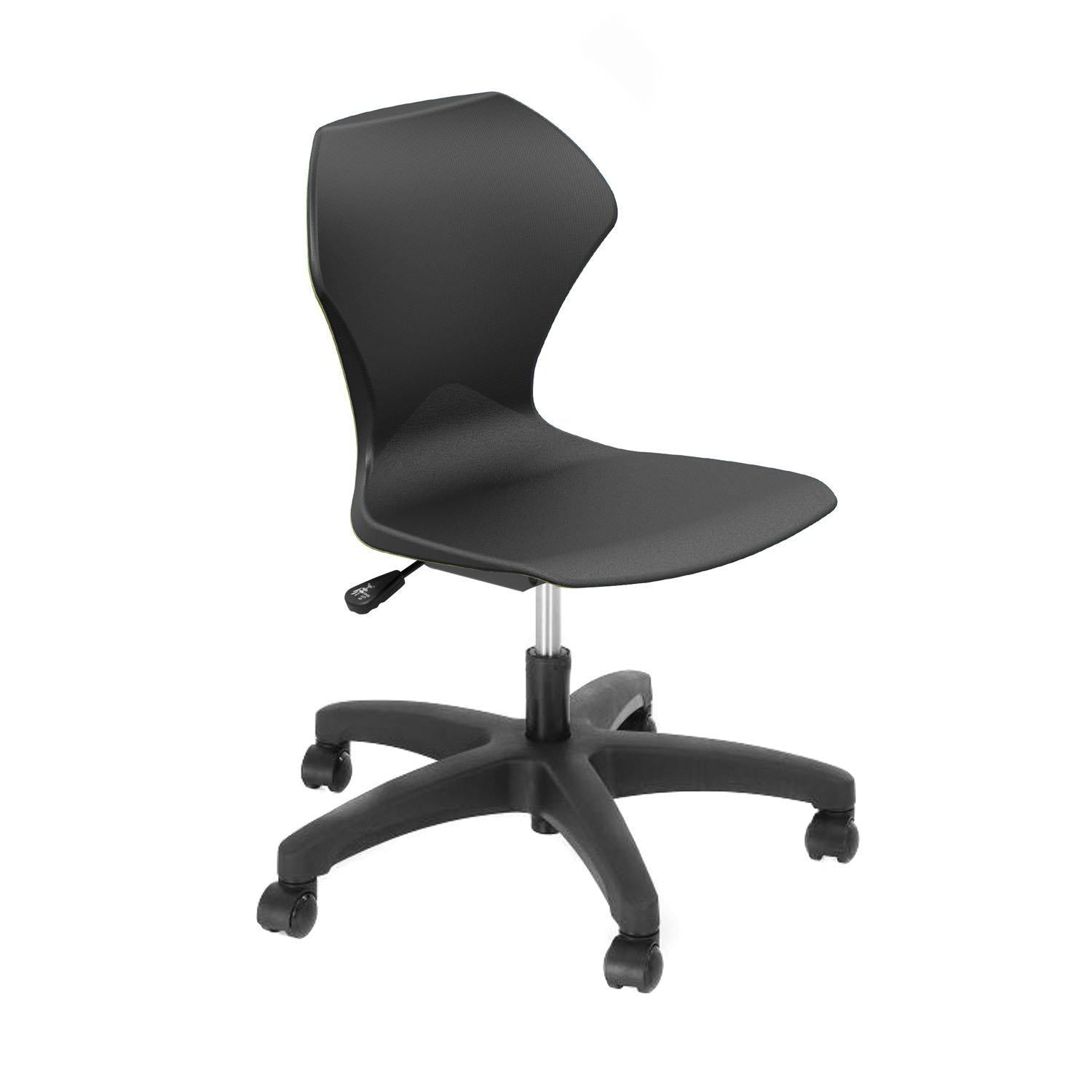 Apex Series Gas Lift Task Chair with 5-Star Base-Chairs-Black-