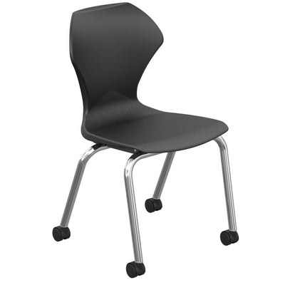 "Apex Series Mobile Caster Chair-Chairs-16""-Black-"