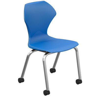 "Apex Series Mobile Caster Chair-Chairs-16""-Blue-"