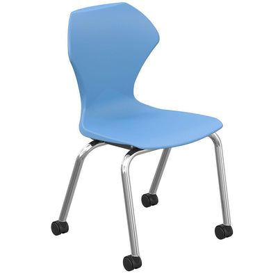"Apex Series Mobile Caster Chair-Chairs-16""-Blueberry-"
