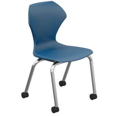 "Apex Series Mobile Caster Chair-Chairs-16""-Navy-"