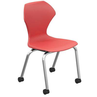 "Apex Series Mobile Caster Chair-Chairs-16""-Red-"