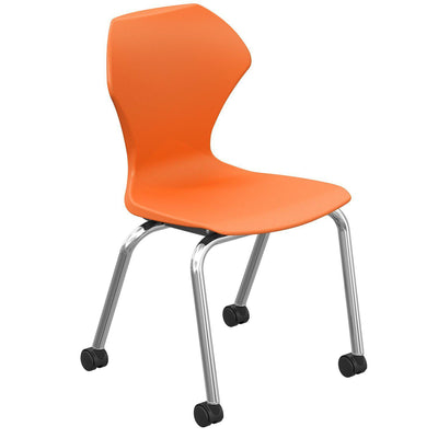 "Apex Series Mobile Caster Chair-Chairs-18""-Orange-"