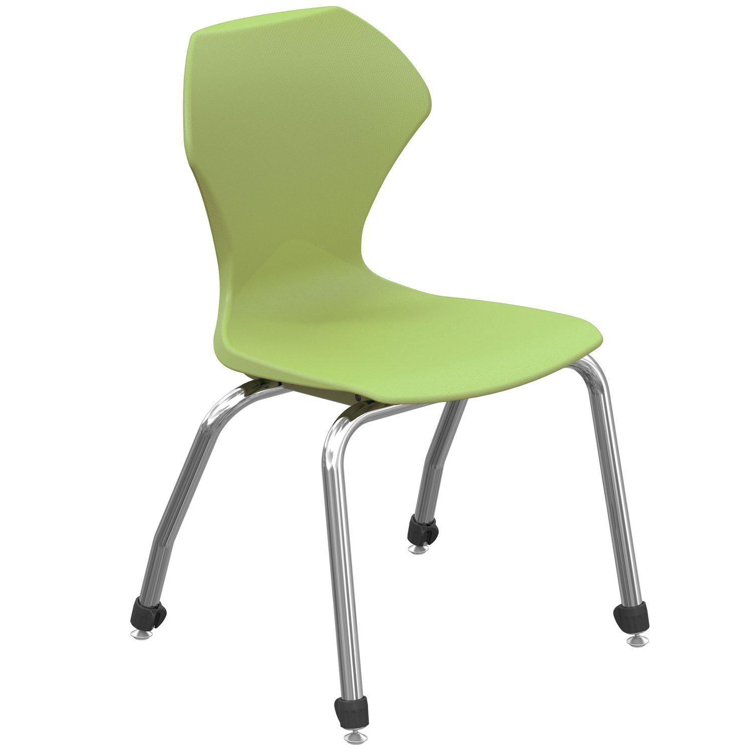 "Apex Series Stack Chairs-Chairs-18""-Apple-Chrome"