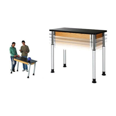 "Adjustable Height Tables with 1-1/4"" Plastic ChemGuard Top"