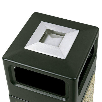 Canmeleon™ Recessed Panel, Ash Urn, Side Open, 15 Gallon, Black