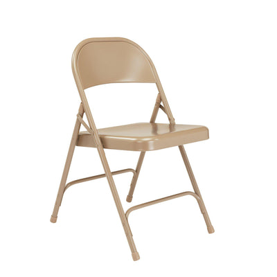 Choice All-Steel Folding Chair (Carton of 4)-Chairs-Beige-