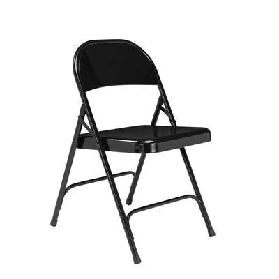 Choice All-Steel Folding Chair (Carton of 4)-Chairs-Black-