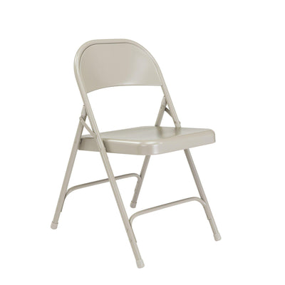 Choice All-Steel Folding Chair (Carton of 4)-Chairs-Grey-