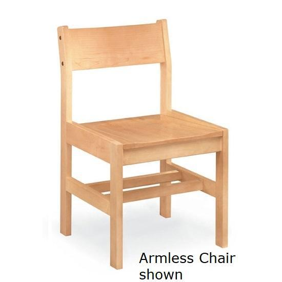Class Act All Wood Arm Chair, 4 Legs