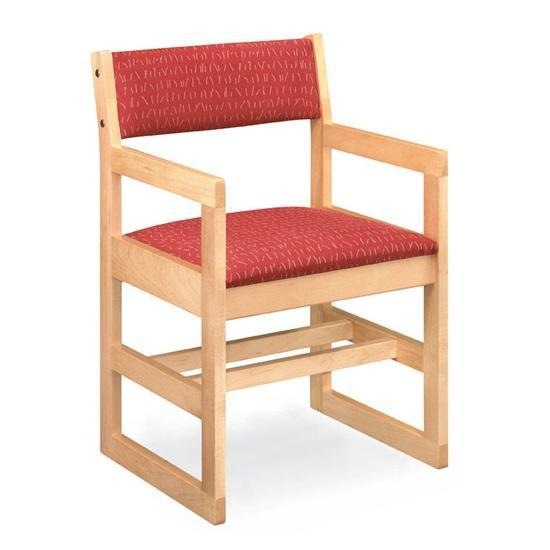 Class Act Arm Chair with Upholstered Seat And Back, Sled Base