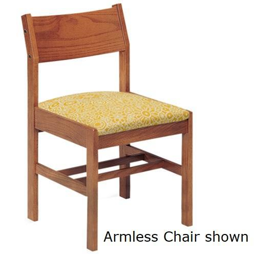 Class Act Arm Chair with Upholstered Seat, 4 Legs
