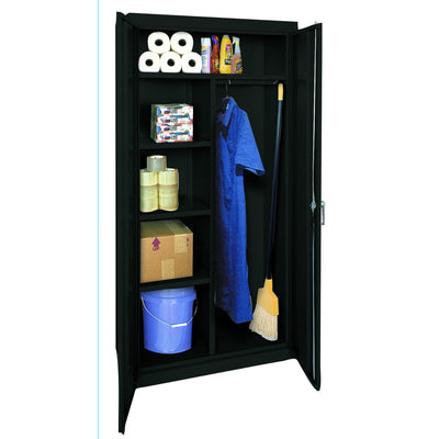 Classic Series Combination Storage Cabinet, 36 x 18 x 72, Black