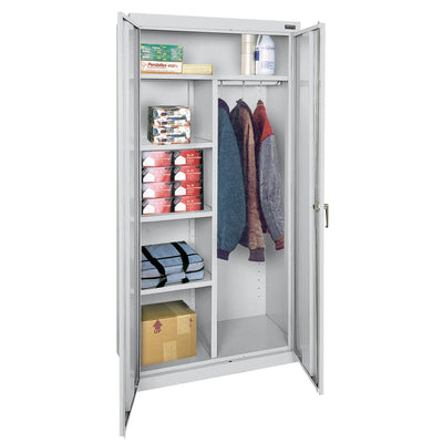 Classic Series Combination Storage Cabinet, 36 x 18 x 72, Dove Gray