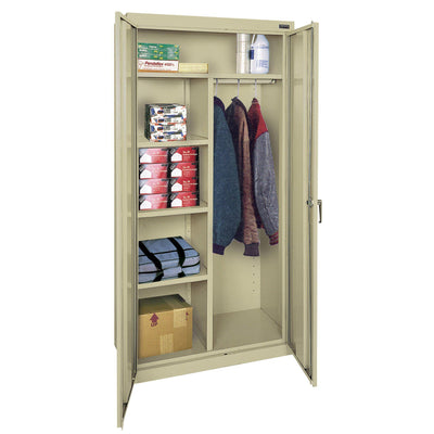 Classic Series Combination Storage Cabinet, 36 x 18 x 72, Putty