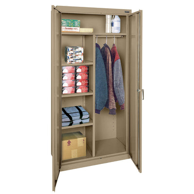 Classic Series Combination Storage Cabinet, 36 x 18 x 72, Tropic Sand