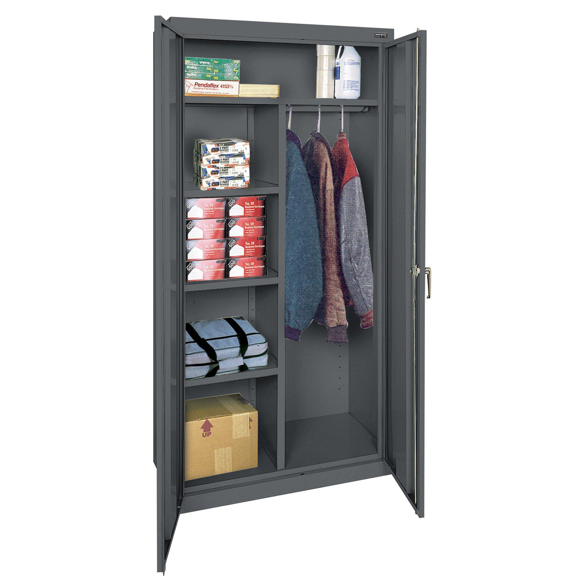 Classic Series Combination Storage Cabinet, 36 x 24 x 72, Charcoal