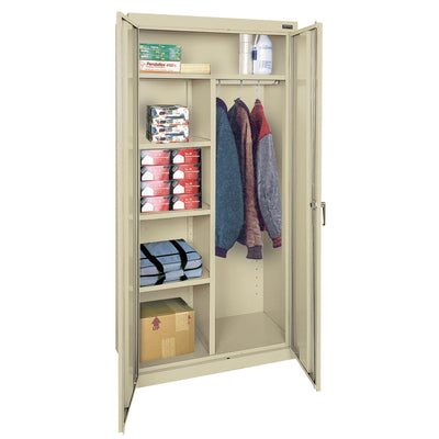 Classic Series Combination Storage Cabinet, 36 x 24 x 72, Putty