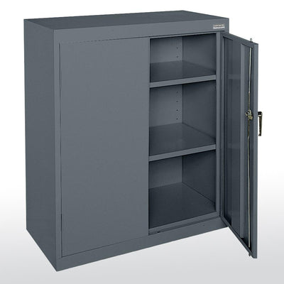 Classic Series Counter Height Storage Cabinet, 36 x 24 x 42-Storage Cabinets & Shelving-Charcoal-