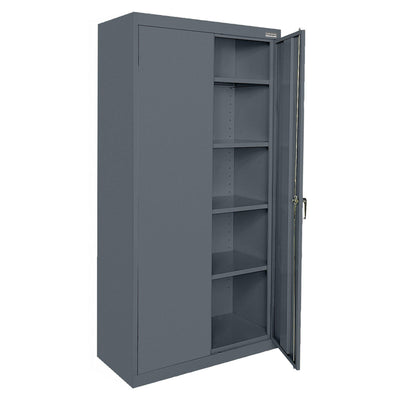 Classic Series Storage Cabinet, 36 x 18 x 78, Charcoal