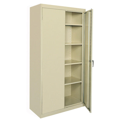Classic Series Storage Cabinet, 36 x 18 x 78, Putty