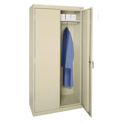 Classic Series Wardrobe Storage Cabinet, 36 x 24 x 72, Putty