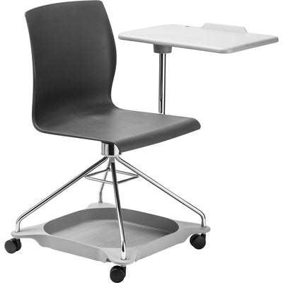 CoGo Chair on the Go Mobile Tablet Chair-Chairs-Black with Grey Base & Tablet-