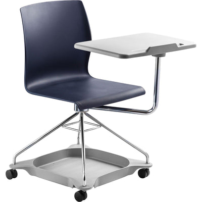 CoGo Chair on the Go Mobile Tablet Chair-Chairs-Blue with Grey Base & Tablet-