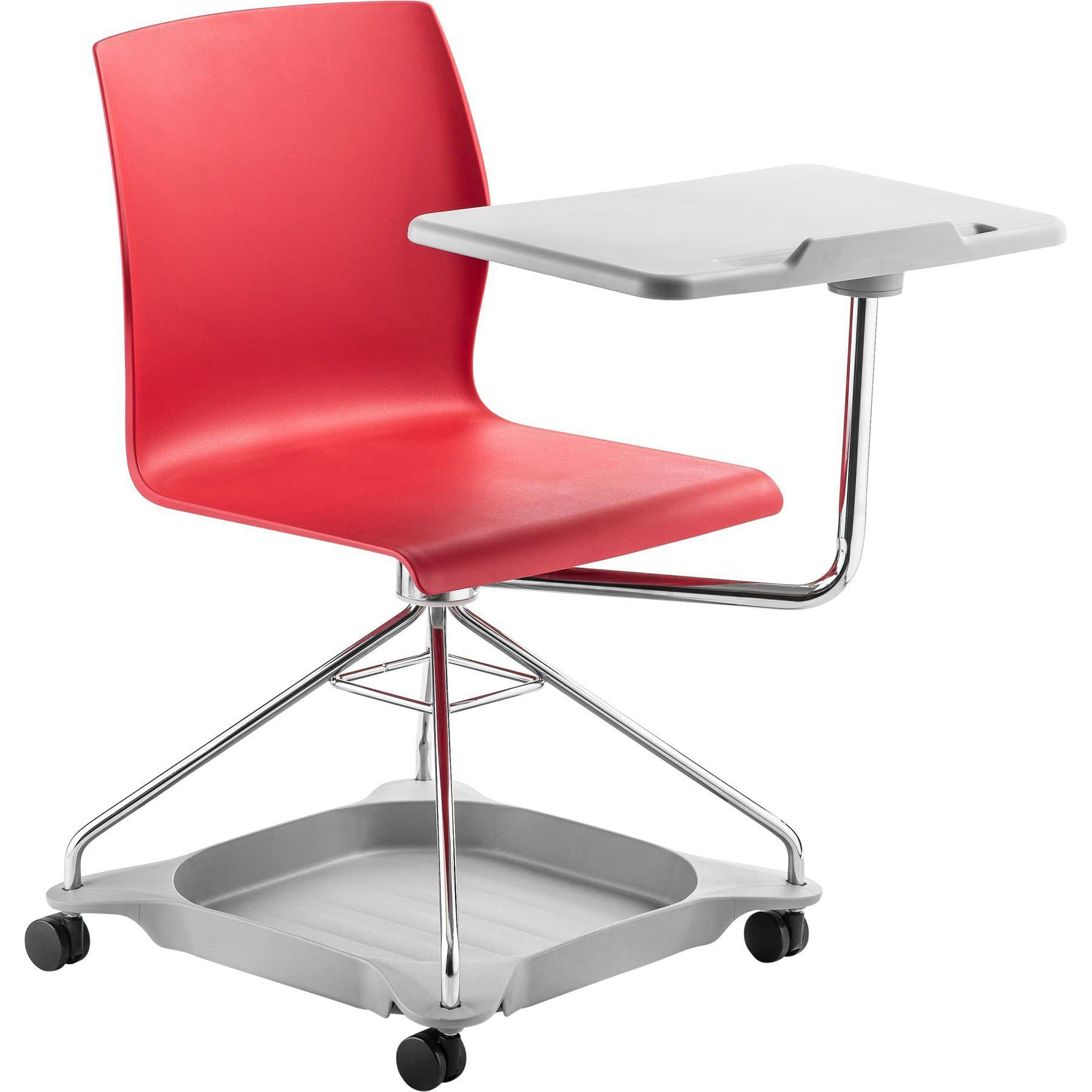 CoGo Chair on the Go Mobile Tablet Chair-Chairs-Red with Grey Base & Tablet-