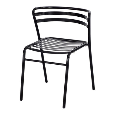 CoGo™ Steel Outdoor/Indoor Stack Chair (Qty. 2), Black