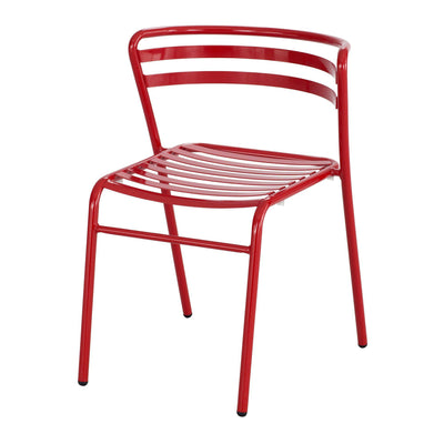 CoGo™ Steel Outdoor/Indoor Stack Chair (Qty. 2), Red