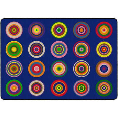 "Color Rings Rugs-Classroom Rugs & Carpets-5' 10"" x 8' 4"" (Seats 20)-Indigo-"
