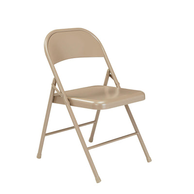 Commercialine All-Steel Folding Chair (Carton of 4)-Chairs-Beige-