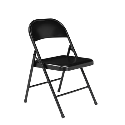 Commercialine All-Steel Folding Chair (Carton of 4)-Chairs-Black-