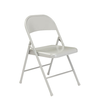 Commercialine All-Steel Folding Chair (Carton of 4)-Chairs-Grey-